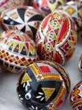 Moldovita绘画鸡蛋在Roumanie 库存图片