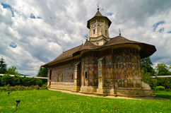 Moldovita kloster, Rumänien Royaltyfria Foton
