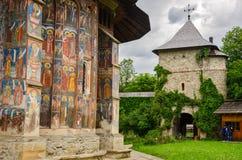 Moldovita kloster, Rumänien Royaltyfri Foto