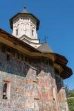 MOLDOVITA MOLDOVIA/ROMANIA - SEPTEMBER 18: Freskomålningar på exten arkivfoto