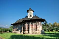 Moldovita monastery. The Moldovita monastery in summer stock image