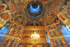 Moldovita monastery - interior saints paintings Royalty Free Stock Photography