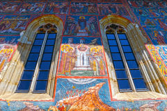 Moldovita Monastery, one of the famous painted monasteries in Romania Royalty Free Stock Photos