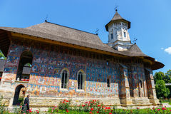Moldovita Monastery, one of the famous painted monasteries in Romania Royalty Free Stock Photo