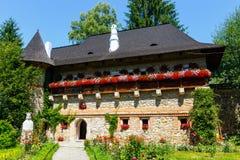 Moldovita Monastery, one of the famous painted monasteries in Romania, Unesco Heritage Stock Images