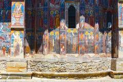 Moldovita Monastery, one of the famous painted monasteries in Romania Royalty Free Stock Photo