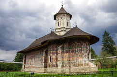 The Moldovita Monastery is a Romanian Orthodox monastery situate royalty free stock image