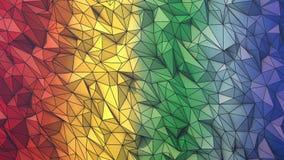 Moldura de arame animado com cores de fundo de polígono baixo ilustração stock