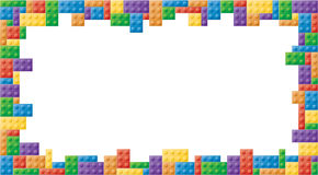 Moldura para retrato colorida retângulo do bloco Imagem de Stock Royalty Free