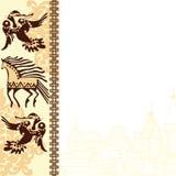 Moldura para retrato com étnico ilustração royalty free