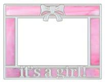 Moldura para retrato cor-de-rosa do bebê imagens de stock royalty free