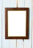Moldura para retrato de madeira Fotos de Stock Royalty Free