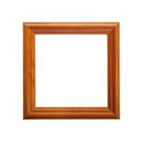 Moldura para retrato de madeira com teste padrão cinzelado Imagens de Stock Royalty Free
