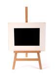 Moldura para retrato de madeira em uma armação isolada no branco fotos de stock
