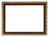 Moldura para retrato de madeira gilted dourada larga do vintage Imagens de Stock Royalty Free