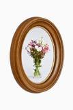 Moldura para retrato de madeira natural com pintura Foto de Stock Royalty Free