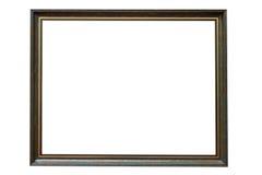 Moldura para retrato de madeira verde no fundo branco fotografia de stock royalty free