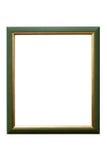 Moldura para retrato de madeira verde no fundo branco imagem de stock royalty free