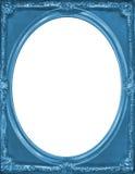 Moldura para retrato do azul do vintage Imagem de Stock