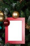 Moldura para retrato do Natal Foto de Stock Royalty Free