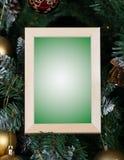 Moldura para retrato do Natal Imagens de Stock Royalty Free