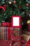 Moldura para retrato do Natal Imagens de Stock