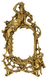 Moldura para retrato do ouro do querubim Foto de Stock Royalty Free
