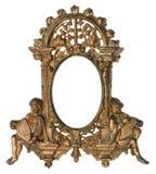 Moldura para retrato do ouro do querubim Imagens de Stock Royalty Free
