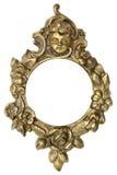 Moldura para retrato do ouro do querubim Fotografia de Stock