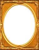 Moldura para retrato do ouro do vintage Fotografia de Stock Royalty Free