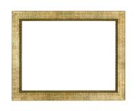 Moldura para retrato dourada Fotos de Stock