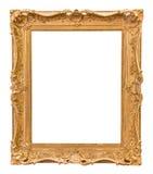 Moldura para retrato dourada decorativa do retângulo fotografia de stock royalty free
