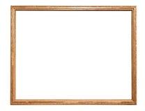 Moldura para retrato dourada decorativa do retângulo imagens de stock royalty free