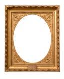 Moldura para retrato dourada decorativa do retângulo imagens de stock