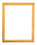Moldura para retrato dourada decorativa do retângulo fotografia de stock