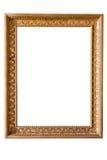 Moldura para retrato dourada decorativa do retângulo fotos de stock