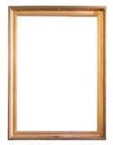 Moldura para retrato dourada decorativa do retângulo imagem de stock royalty free