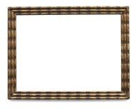 Moldura para retrato dourada do vintage com trajeto de grampeamento Foto de Stock Royalty Free