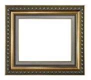 Moldura para retrato dourada e cinzenta Imagens de Stock