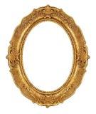 Moldura para retrato elegante dourada Foto de Stock