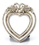 Moldura para retrato metálica da forma do coração Foto de Stock Royalty Free