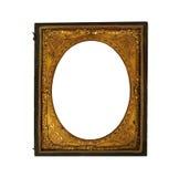 Moldura para retrato metálica do ornat do vintage Foto de Stock Royalty Free