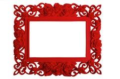 Moldura para retrato no branco Fotos de Stock Royalty Free