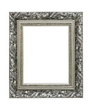 Moldura para retrato ornamentado de prata Fotos de Stock