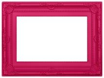 Moldura para retrato plástica cor-de-rosa Fotografia de Stock Royalty Free
