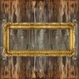 Moldura para retrato retro grande do ouro velho Imagens de Stock Royalty Free