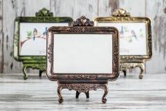 Molduras para retrato autônomas do Tabletop decorativo do vintage Imagem de Stock Royalty Free