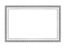 Molduras para retrato de prata Isolado no branco Imagens de Stock Royalty Free