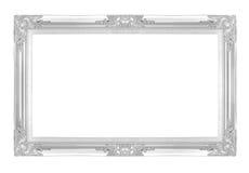 Molduras para retrato de prata Isolado no fundo branco Foto de Stock Royalty Free