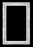 Molduras para retrato de prata Isolado no fundo preto Imagens de Stock
